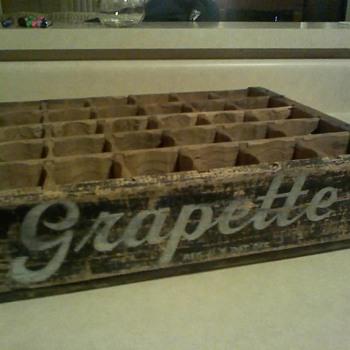 grapette soda box - Advertising