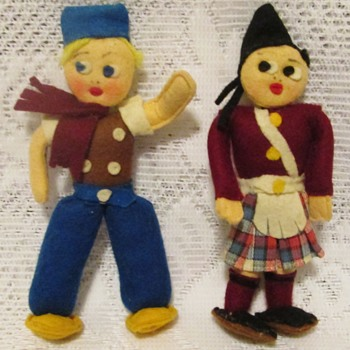 Two felt dolls
