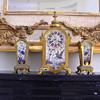 1800 ASIAN FRENCH CLOCK W MATCHING STANDS