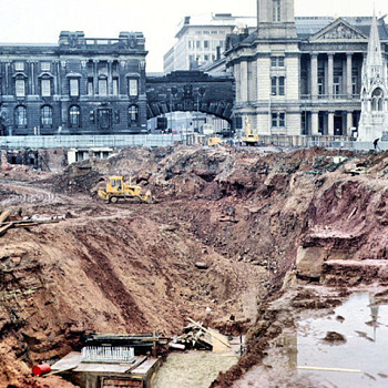 1971-Birmingham uk-the new central lending library under  construction.