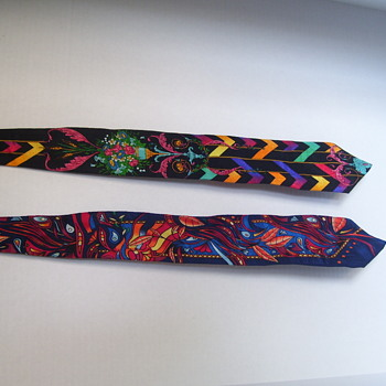 TWO COLLECTIBLE MEN'S TIES DESIGNED BY RUSH LIMBAUGH THE OPPOSITE OF WHAT YOU'D EXPECT--ENLARGE PLEASE