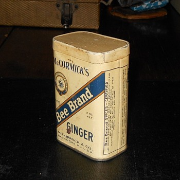 McCormick's Bee Brand Ginger Pre 1941 - Advertising