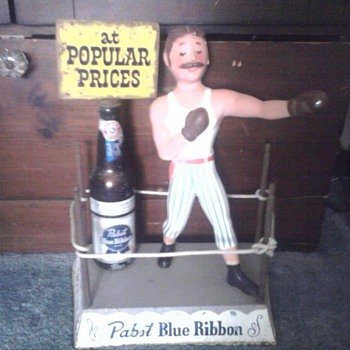 Rare Pabst Blue Ribbon Boxer Display