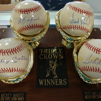 Micky Mantle Triple Crown Autographed baseballs - Baseball