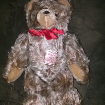 vintage? teddy bear. manufacturer Grisly - Dolls