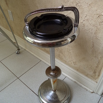 Pedestal Ashtray/ Smoking Stand - Tobacciana