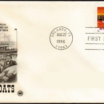 "1996 - ""Sylvan Dell Riverboat"" Stamp First Day Cover"