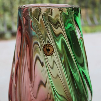 Iwata Japan twist vase - Art Glass