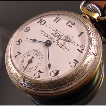 Ingraham New York to Paris Lindbergh pocket Watch