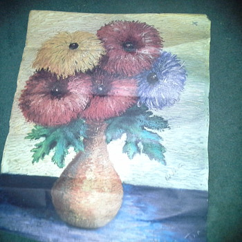 painting of flowers by red skelton