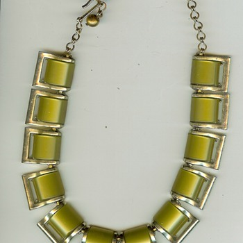 Vintage Lucite Chocker Necklace