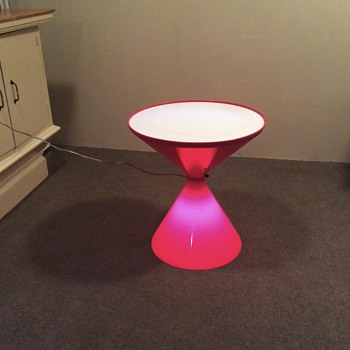 Red glow end tables