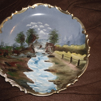 Hand Painted Plate  - Art Pottery
