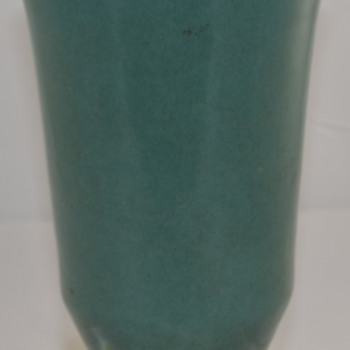 Vintage Large Blue Green Glaze Vase Unknown Maker or Type of Pottery  - Art Pottery
