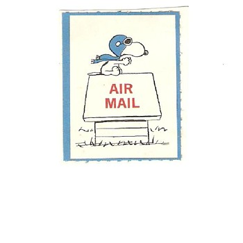 Totally cool vintage snoopy (peanuts) stamp I think i have the only one online - Stamps