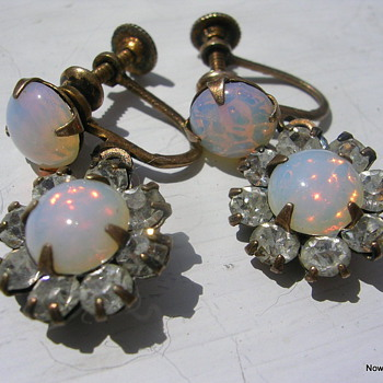 Whiteside and Blank Earrings - Costume Jewelry