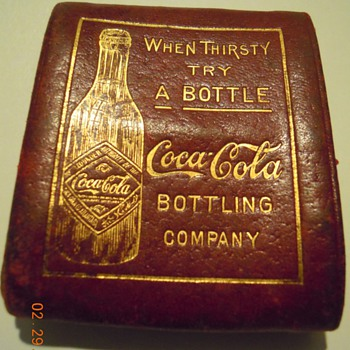 c. 1907 Coca-Cola Change Purse, Burgundy