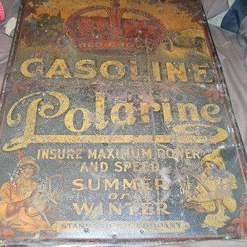 early red crown gasoline sign
