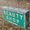 Double Sided Stained Glass Beauty Shop Sign