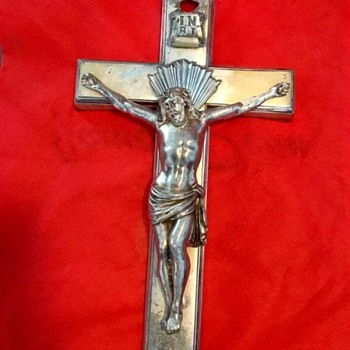 Large Crucifix from thrift store