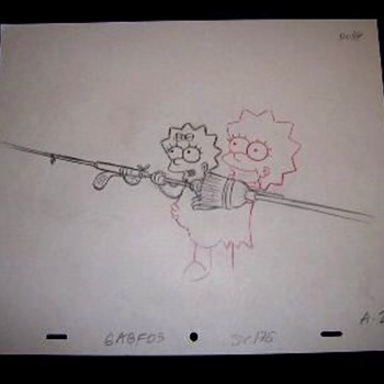 Another Simpsons Final pencil cel - Movies