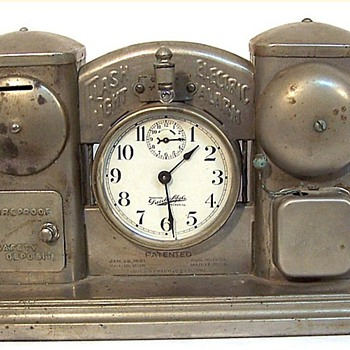 Darche Mfg. Alarm Clock Bank Pat. 1889 ~ 1908