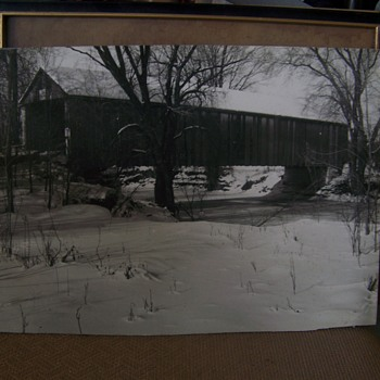 Unknown Covered Bridge Photograph, Written on back CRIME LAB ?????
