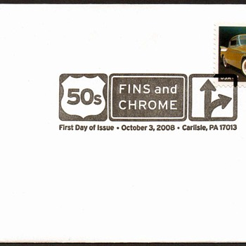 2008 - '57 Studebaker Golden Hawk Stamp First Day Cover