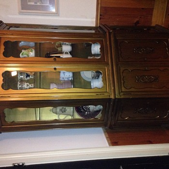 I wonder about this china cabinet's history... - Furniture