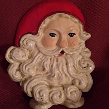 Retro Cast Iron Santa Door Stop - Christmas