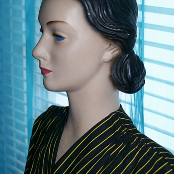 1940's 30 inch Butterick Store Display Mannequin - Advertising