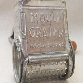Vintage Mouli Grater Made in France with Red Wood Handled A Mouli Product