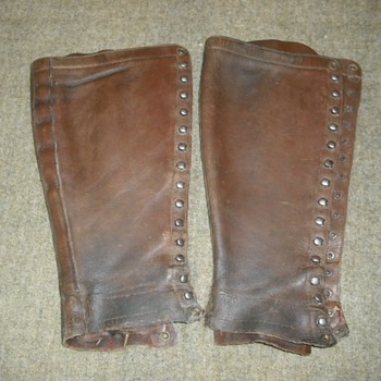 Leather Leggings Converted from Boots - Military and Wartime
