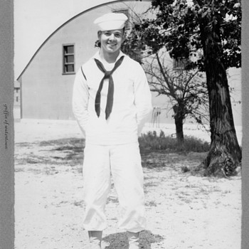 1940's my Dad maybe just out of Training Navy photo  - Military and Wartime