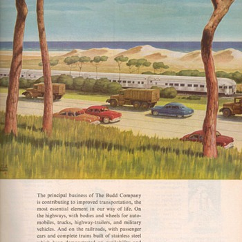 1951 - Budd Traincars Advertisement