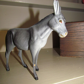 Vintage German Nativity - Part II: Donkey - Christmas