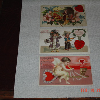 Antique Valentine Post Cards By Ellen H. Clapsaddle and Henry Miller - Postcards