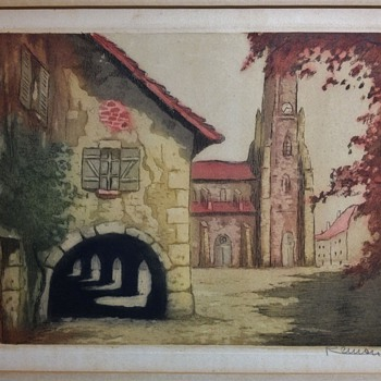 Wood Block Engraving, Made in France Unknown Artist  - Posters and Prints