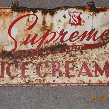 supreme icecream sign - Signs
