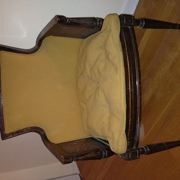 "Sheraton Chair: Makers tag ""Booz Allen Hamilton 61 3411"""