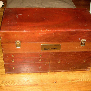 Antique/Vintage B&amp;D Solid Mahogany Power Tool Chest - Tools and Hardware