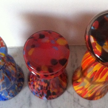 3 unknown spatters - first of 3 posts - Art Glass