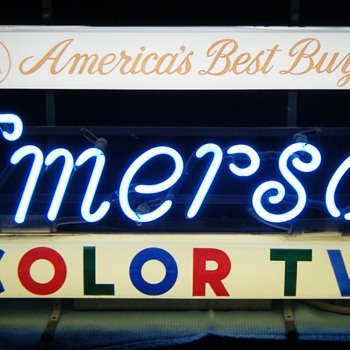 Emerson Color TV neon sign