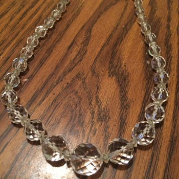 Faceted Rock Crystal Necklace??  strung on a silver chain - Costume Jewelry