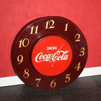 coca cola telechron clock
