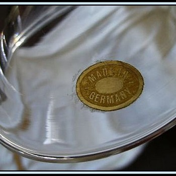 ROSENTHAL -- Glass Compote ( Marked and Label )
