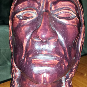 Head Bust of Native American - Art Pottery