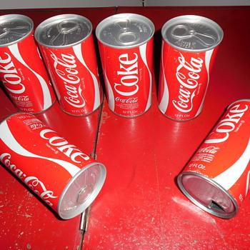 19?70's? Coca-Cola Cans - Coca-Cola