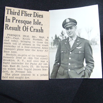 Service Pilot who died during his WW2 service
