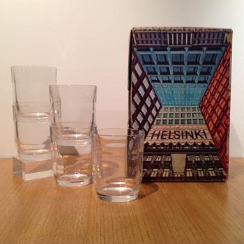 NUUTAJÄRVI MYSTERY HELSINKI TUMBLERS - Art Glass